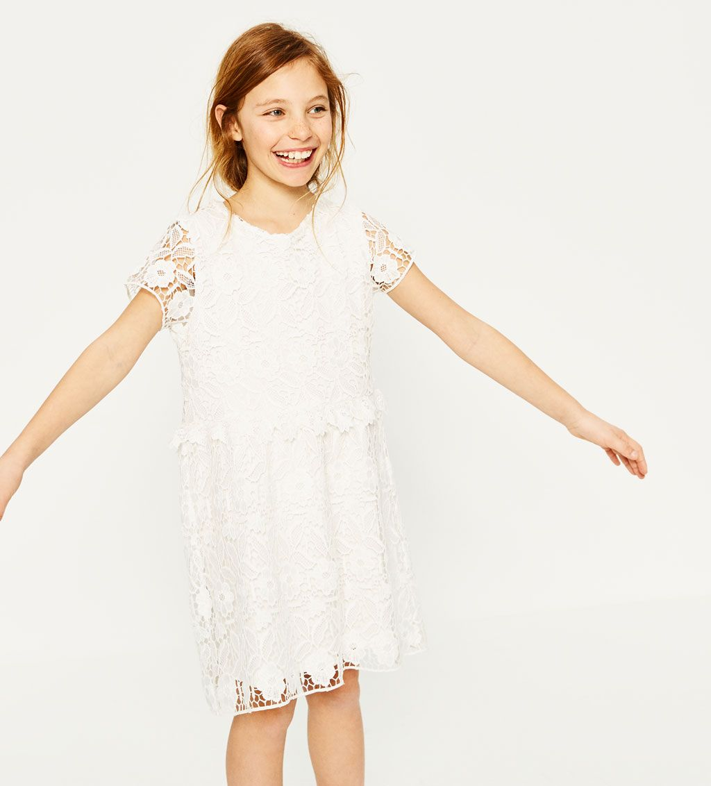 da964778f7 GUIPURE LACE DRESS-DRESSES-GIRL | 4-14 years-KIDS-SALE | ZARA United ...