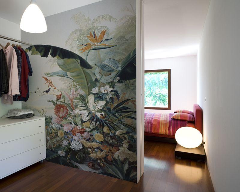 fleurs exotiques papier peint papier peint floral tropical pinterest fleurs exotiques. Black Bedroom Furniture Sets. Home Design Ideas