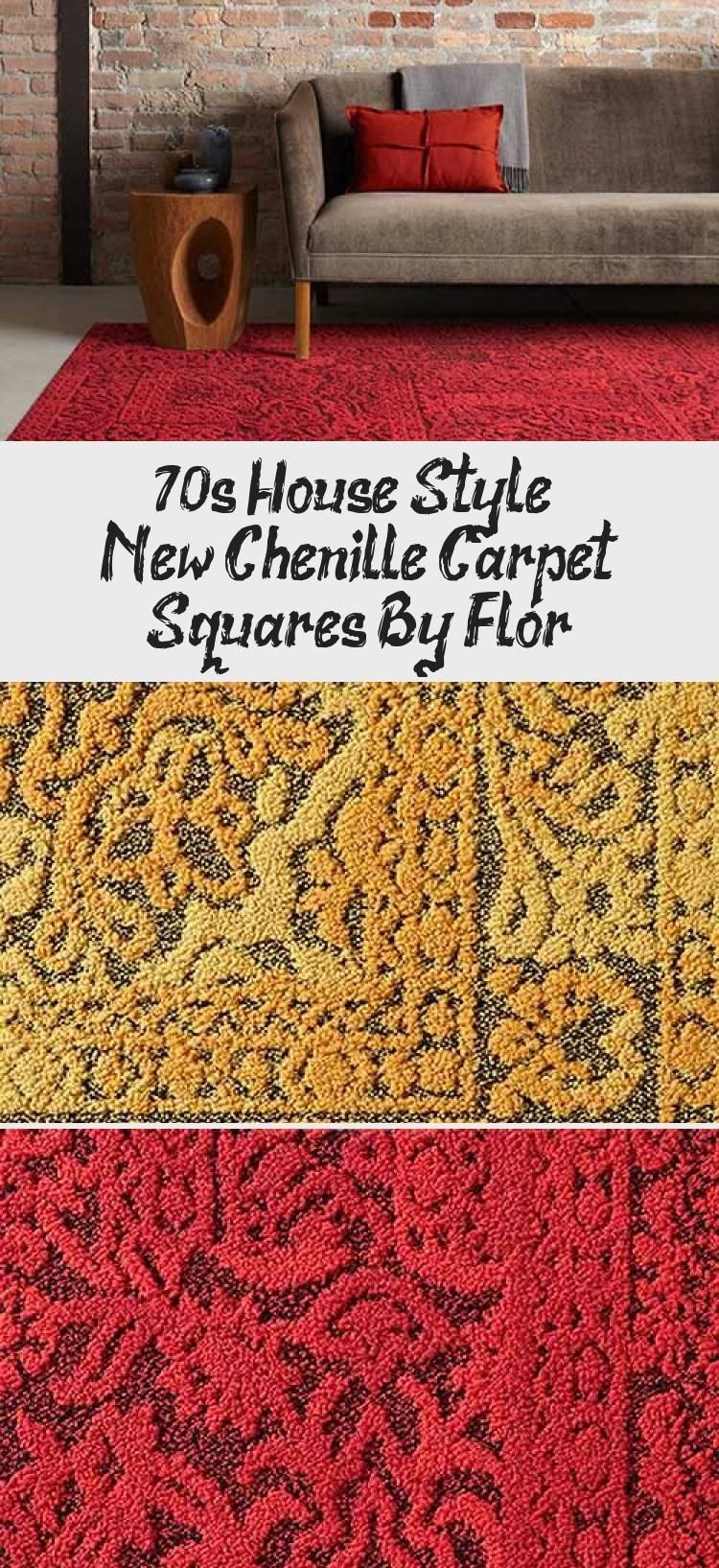70s House Style New Chenille Carpet Squares By Flor Home Accesories In 2020 Carpet Squares Textured Carpet Retro Renovation
