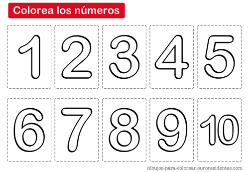 Colorear Los Números Worksheet For Preschool Numbers Activities