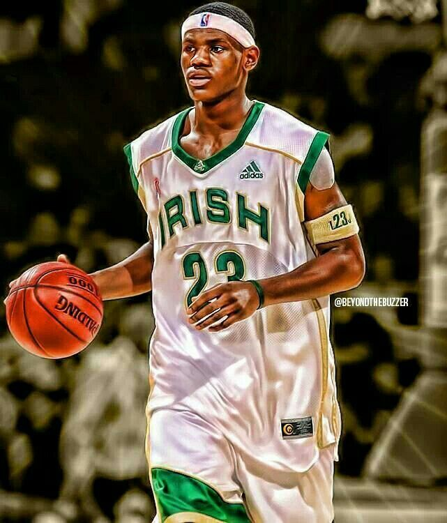 5945a7bbbbc Young King James Lebron James High School