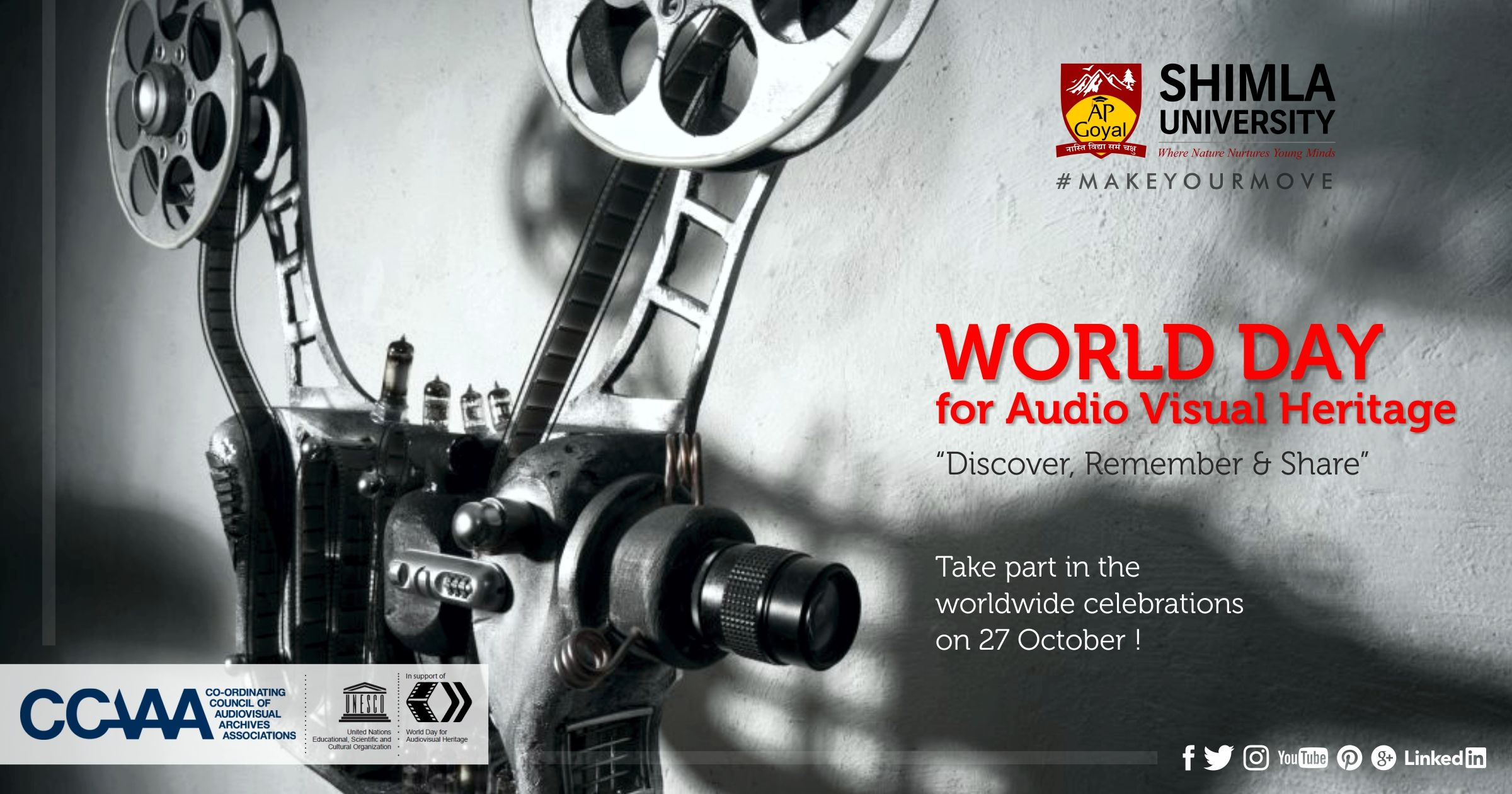 World Day For Audiovisual Heritage Is Celebrated All Over The World To Raise General Awareness Of The Need For Urgent Measures To Be Ta World Days Day Remember