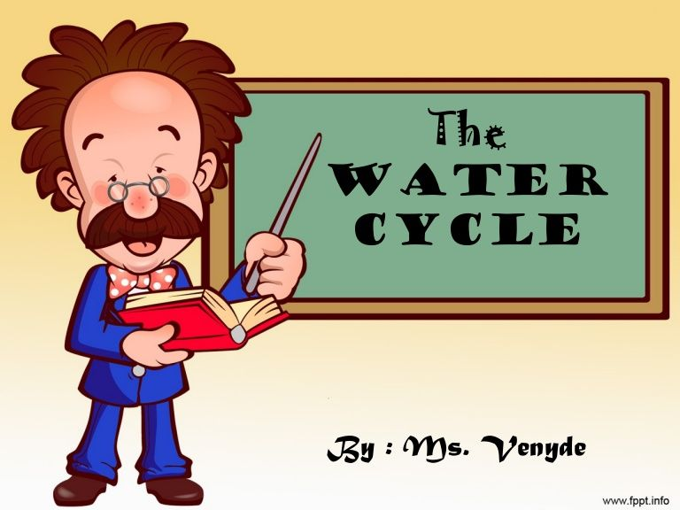 The Water Cycle For Elementary Math Powerpoint Powerpoint Template Free School Powerpoint Templates