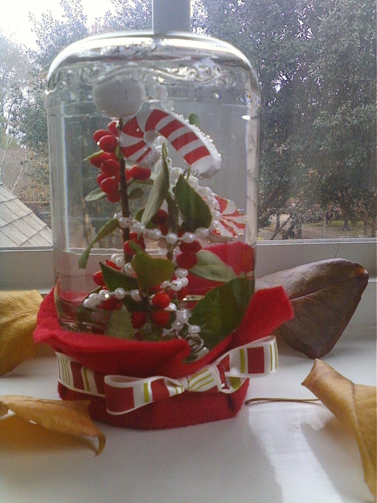homemade snowglobe ) Christmas snow globes diy