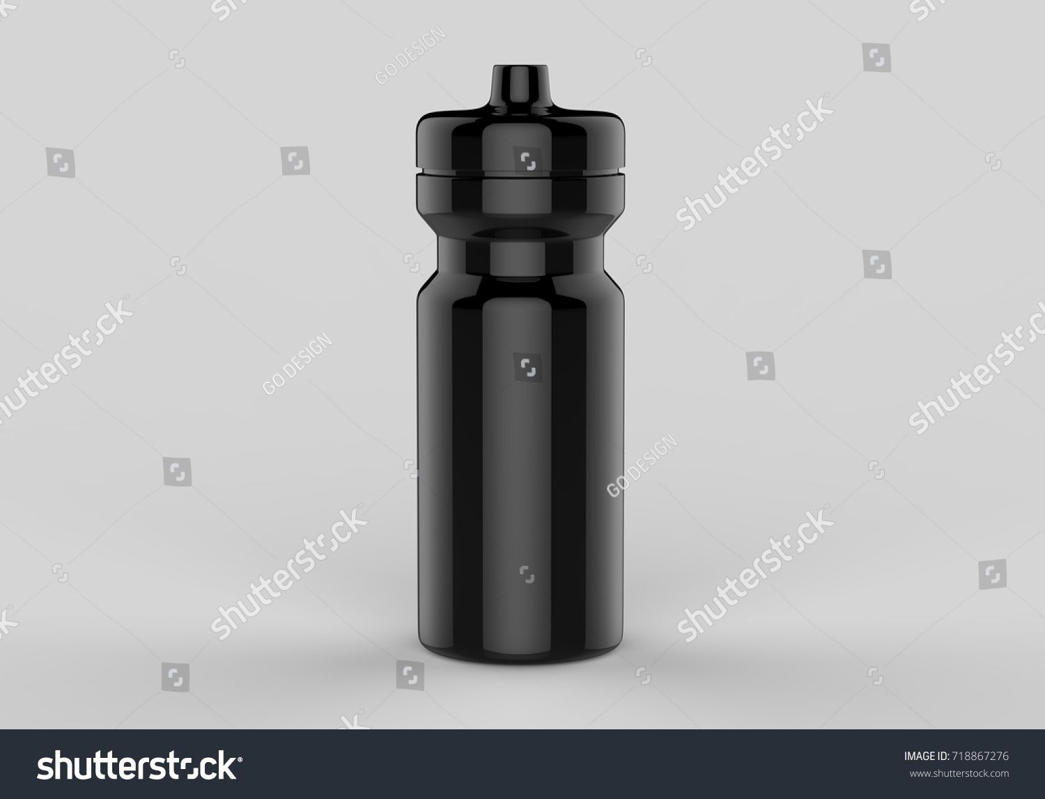 Download Sport Black Shiny Sipper Bottles For Water Isolated On Grey Background For Mock Up And Template Design White Blank Bottle 3d Bottle Water Bottle Blank Bottle
