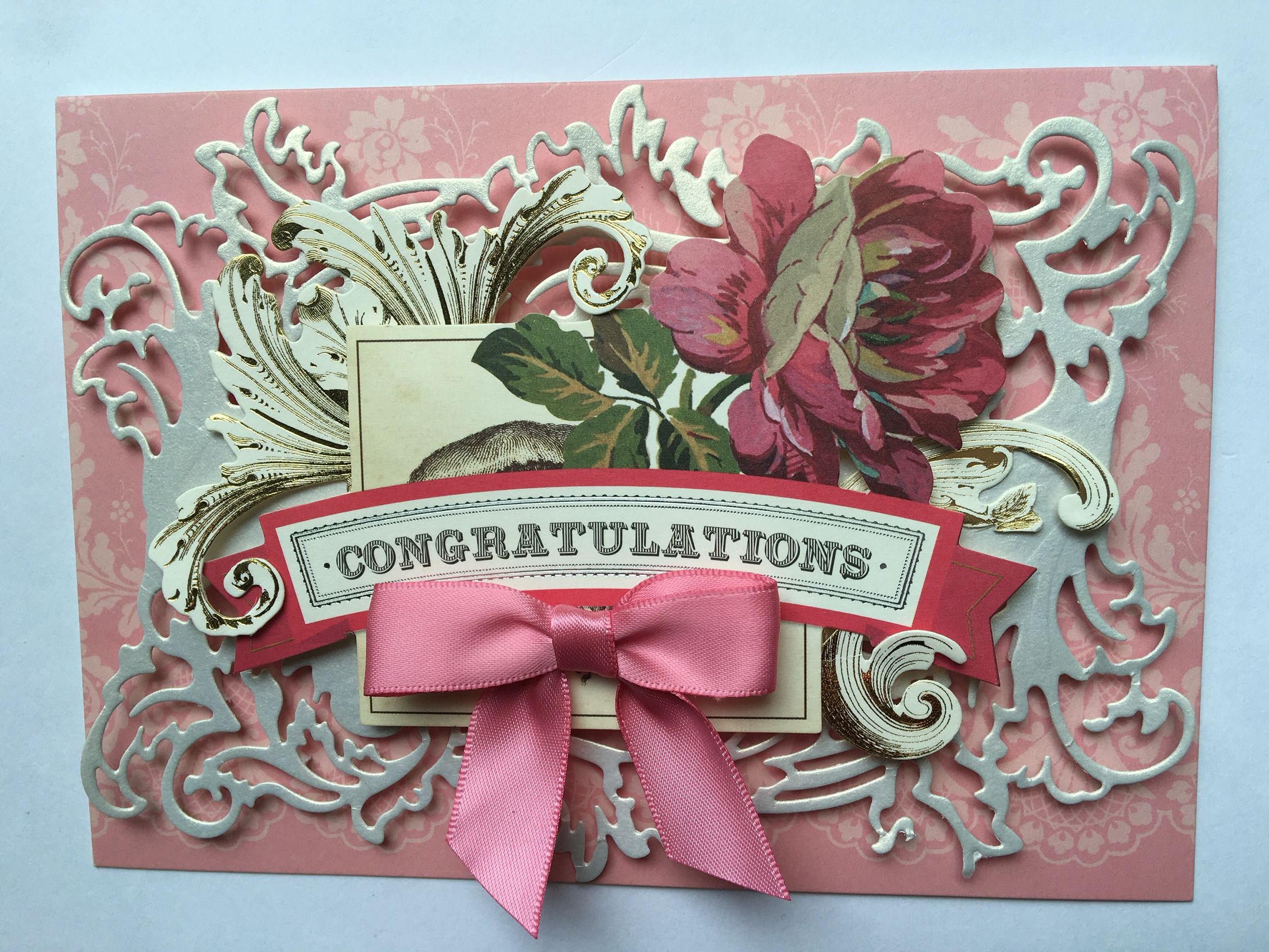 Gold color cardstock paper 5x7 - Lynn Gumowski S Design Congratulations Card For Haley S Engagement Using Pretty Patterns Card Ornate Frame
