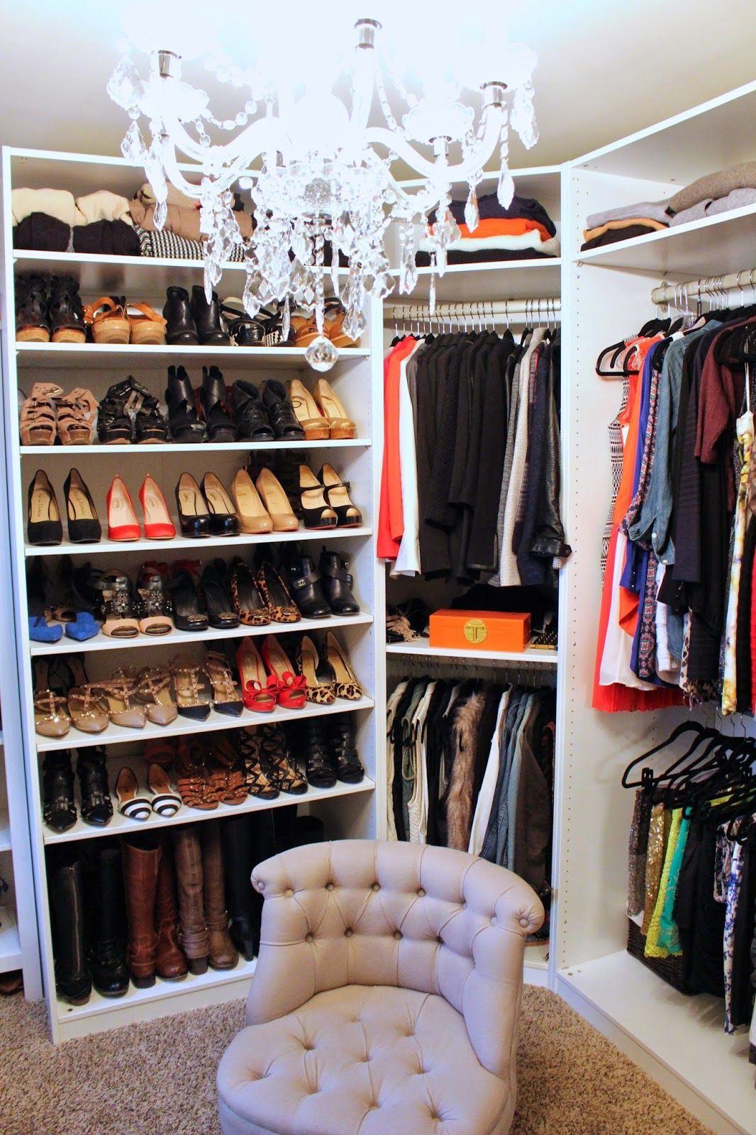 Tiffanyd Updated Closet And Makeup Filming Area Tour Closet Remodel Closet Makeover Closet Inspiration
