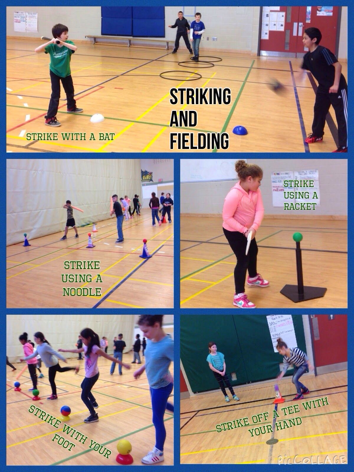 Striking And Fielding Pic Collage