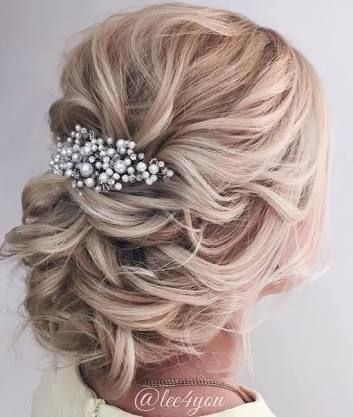 Image Result For Mother Of The Bride Hairstyles For Medium Length Hair Long Hair Styles Hair Styles Bridal Hair Updo
