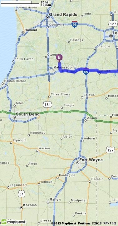 Driving Directions From Ann Arbor Michigan To Richland Michigan