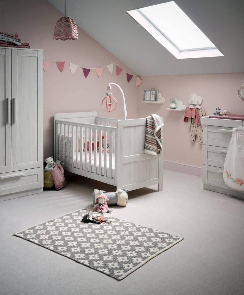 Atlas Cot Bed 3 Piece Nursery Furniture Set Nimbus White Mamas