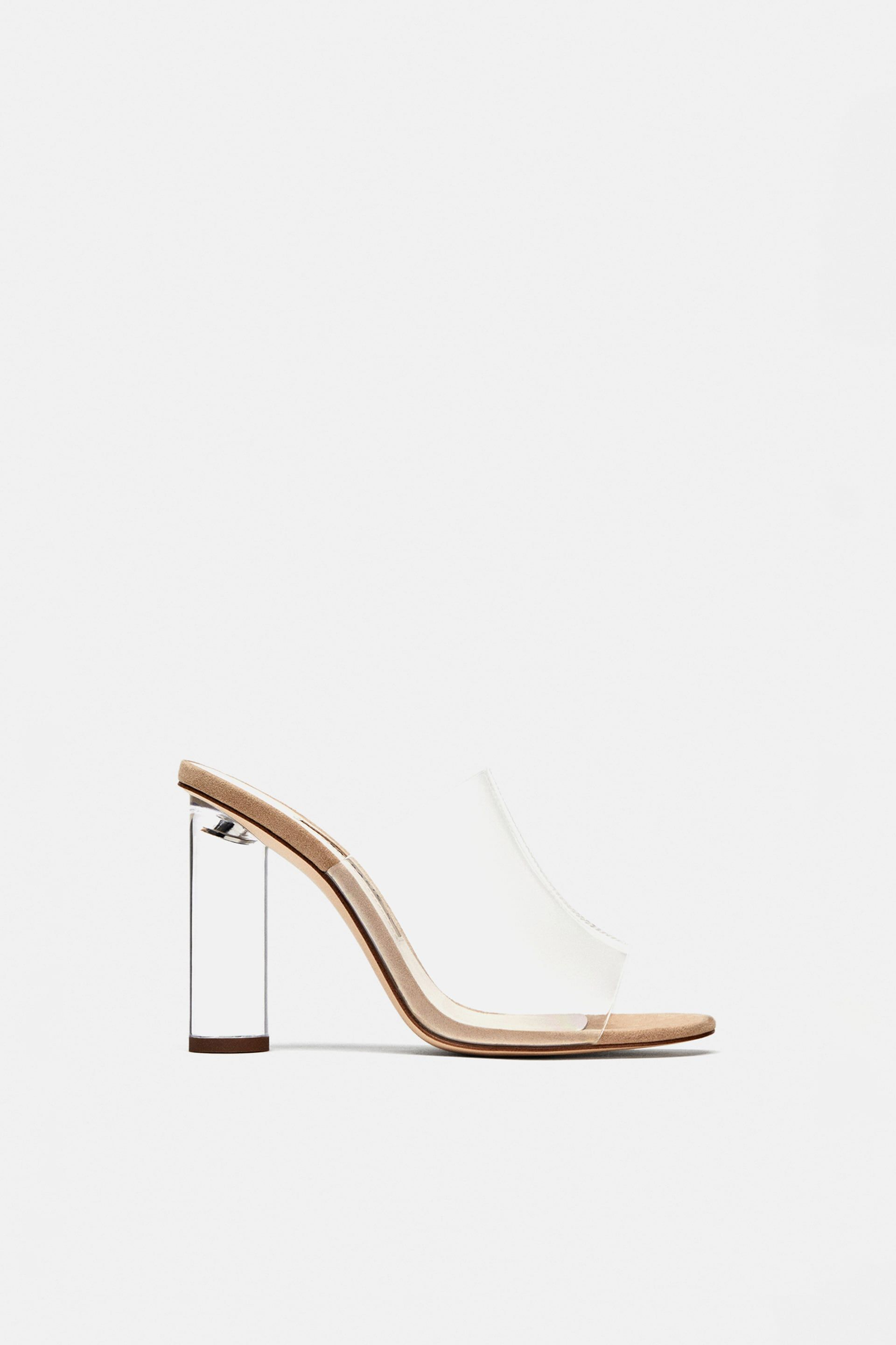 994d9d16d84 Image 1 of VINYL MULES WITH METHACRYLATE HEEL from Zara
