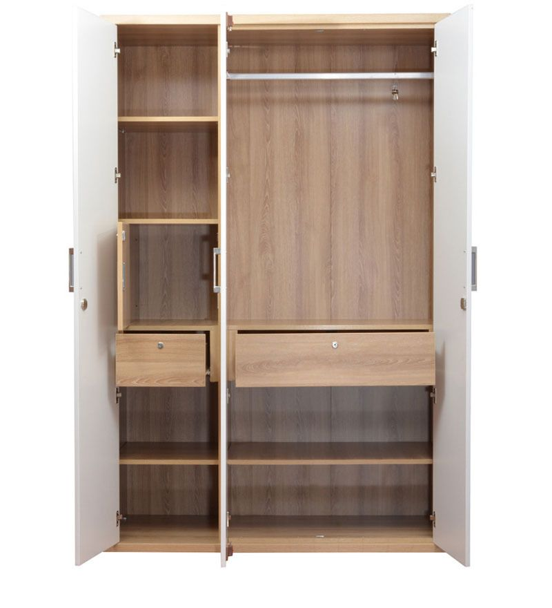 Tyson Three Door Wardrobe By HomeTown By HomeTown Online   Wardrobes    Furniture   Pepperfry Product