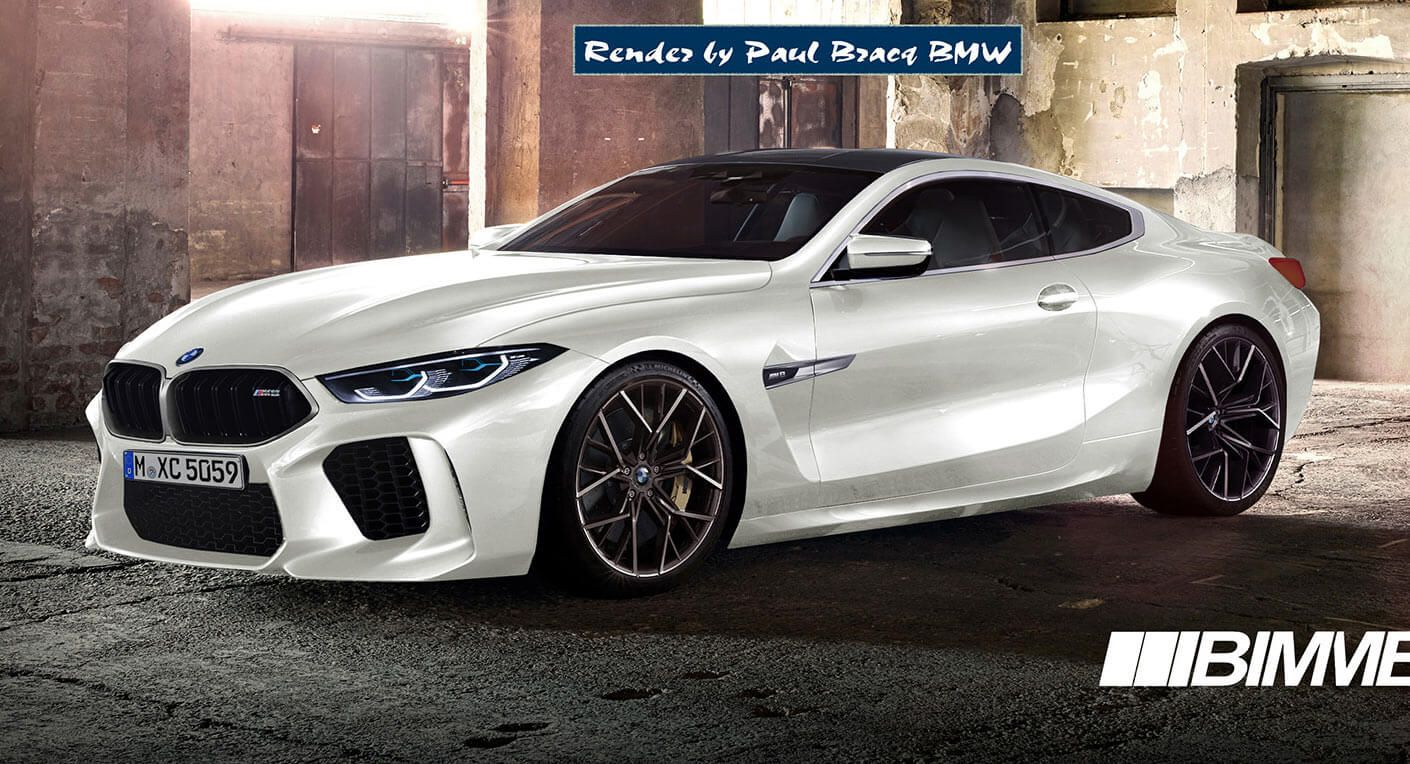 2019 Bmw M8 Coupe More Realistically Rendered Carscoops Bmw Bmw New Cars M8 Bmw