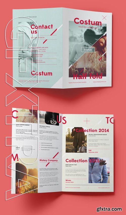 Costum Bi Fold Brochure Template Ads Pinterest Brochure - fashion design brochure template