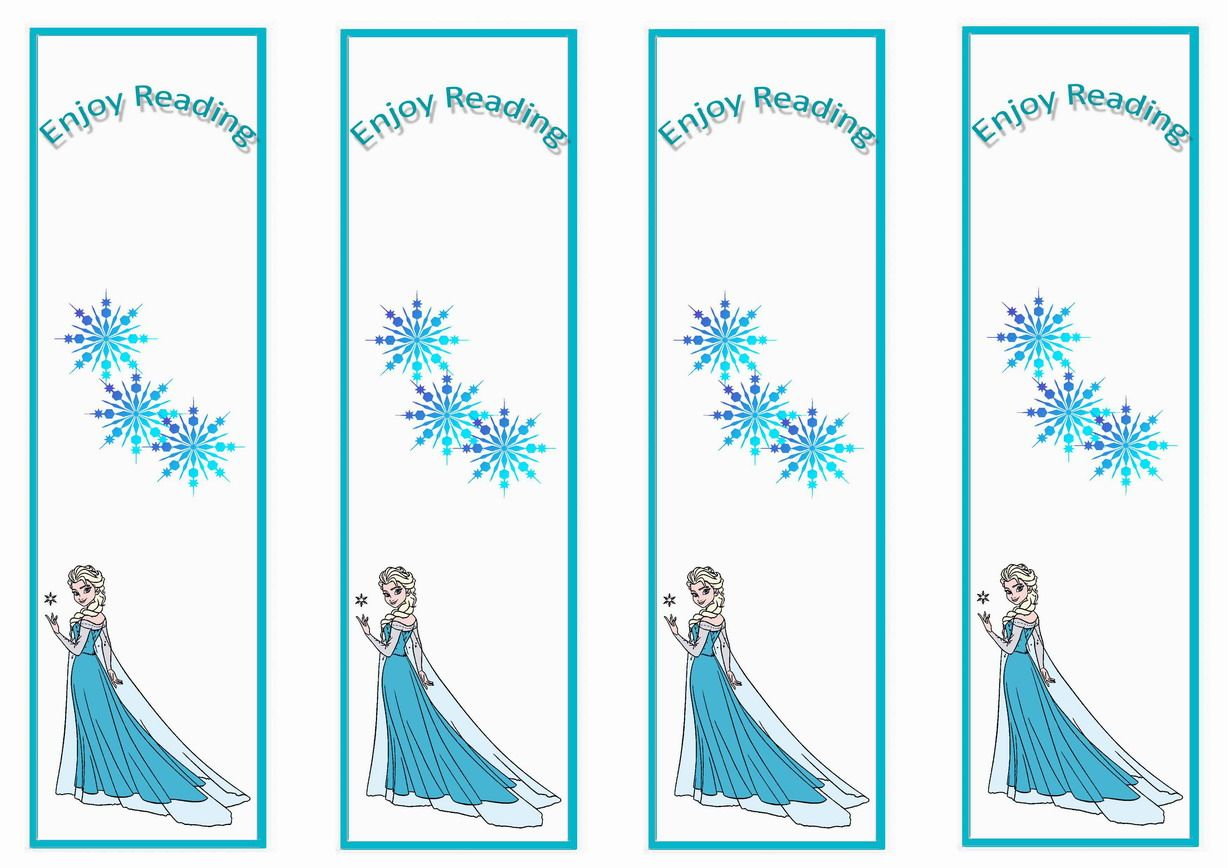 Frozen movie themed bookmarks themed bookmarks free