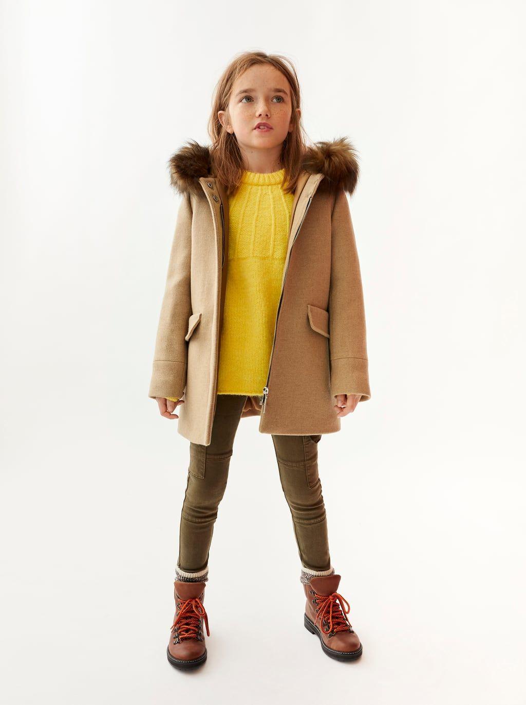 Girls Outerwear Zara United States Dufflecoat Mantel Mantel Kinder