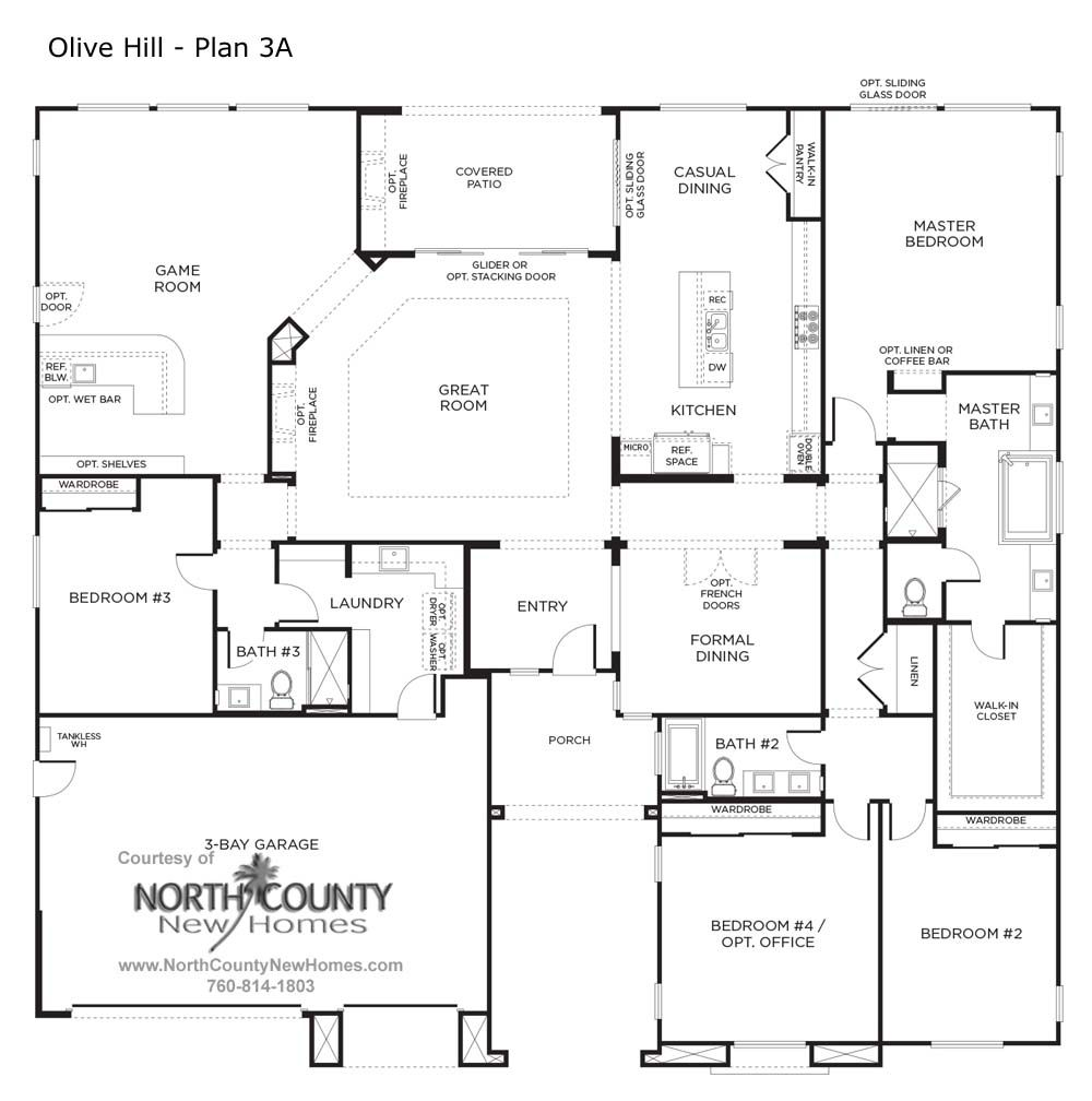 Olive Hill Floor Plans New Homes In Bonsall North County New Homes Farmhouse Floor Plans One Storey House Building House Plans Designs