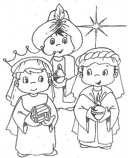 Three Kings Day Coloring Pages Los Tres Reyes Magos With Images