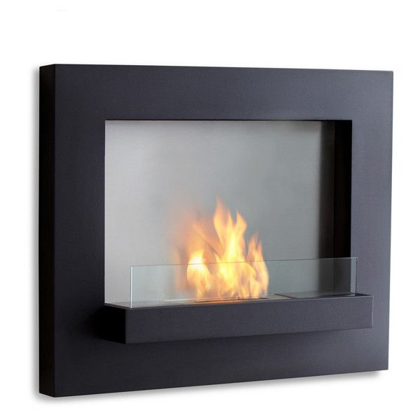 Thos Baker Edgerton Ventless Wall Fireplace 1 195 Brl Liked On Polyvore Featuring Home Home Decor Firep Fireplace Wall Wall Mounted Fireplace Real Flame