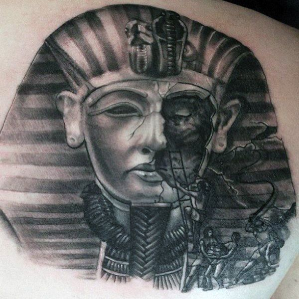 aecbeb8290103 Discover the most prominent pharaoh in history with the top 60 best King  Tut tattoo designs for men. Explore cool Tutankhamen Egyptian ink ideas.