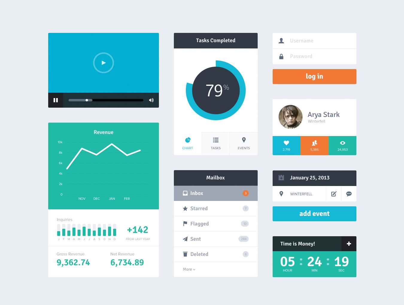 Flat UI Kit | Violet UX/UI | Pinterest | Flat UI, Ui kit and Ui ux