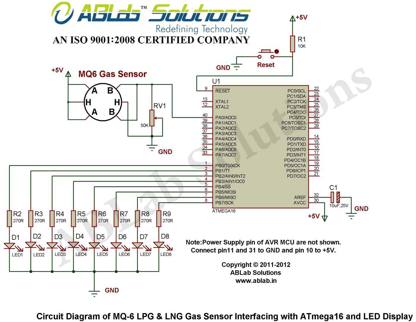 hight resolution of mq 6 lpg lng gas sensor interfacing with avr atmega16 mq 6 circuit diagram