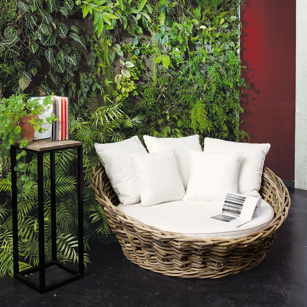 Canapé 1/2 places en rotin St Tropez | Maisons du Monde | Mobiliario ...