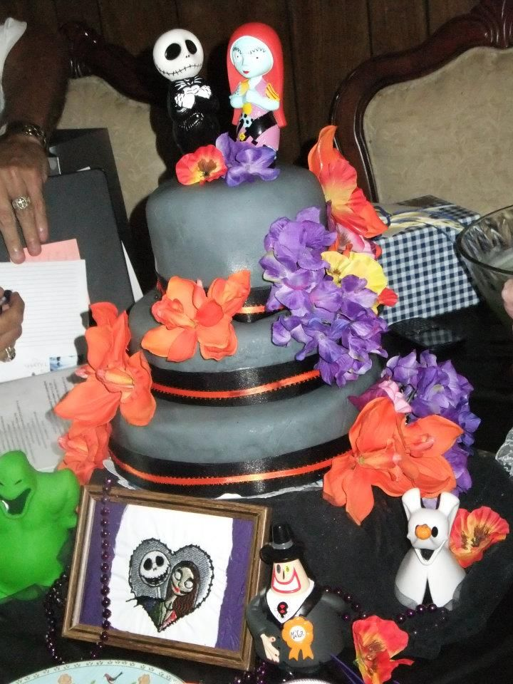 My Nightmare Before Christmas Wedding cake I did for a co-worker