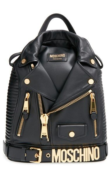 c0d72afa37 Moschino 'Biker Jacket' Backpack at Nordstrom.com. Biker jacket meets  backpack with this clever statement piece that turns a sartorial staple  into a ...