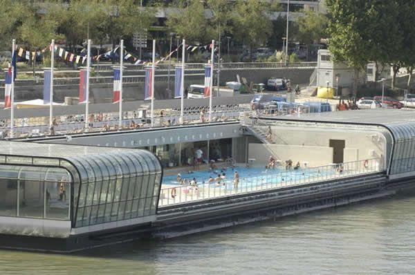Exceptionnel La Piscine Josephine Baker  Quai François Mauriac, 75013 Paris  A Floating  Swimming Pool Conception Impressionnante