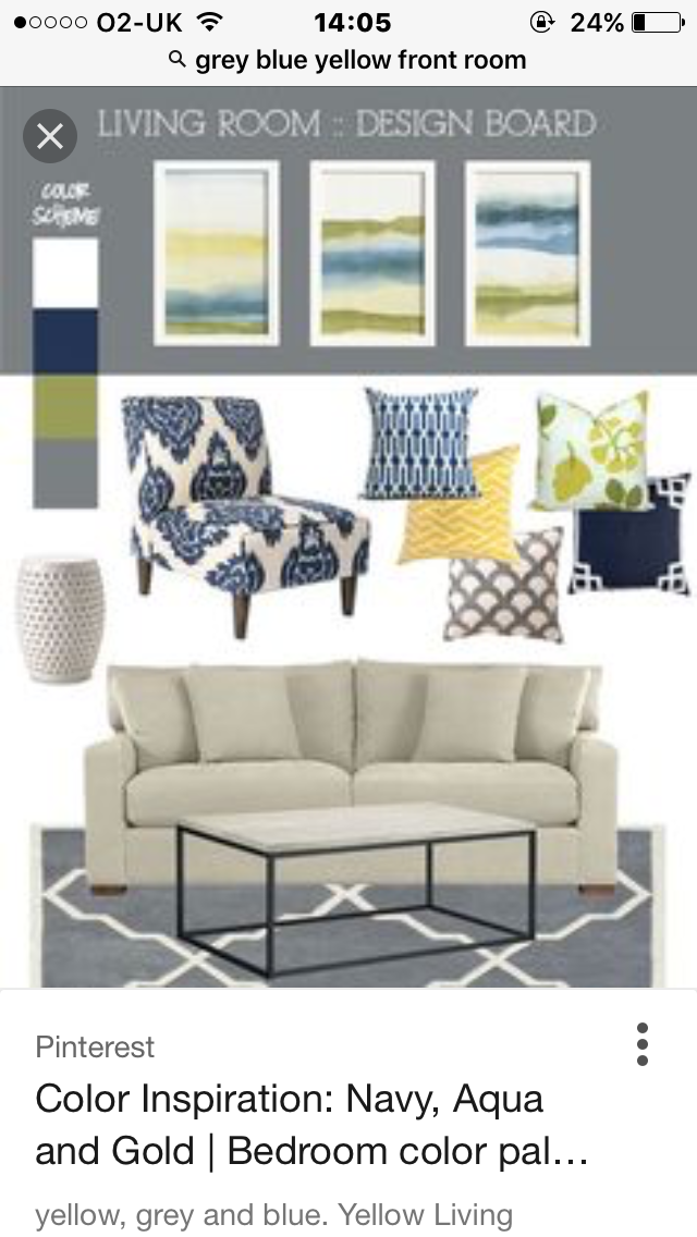 Pin By Elaine Roberts On For The Home Blue Living Room Yellow Living Room Living Room Grey