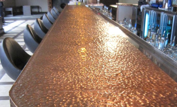 Incroyable Copper Bar Breweries Pinterest And Commercial. Regular Hammered With Light  Patina Bar Top