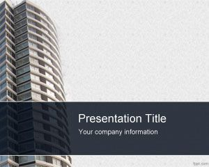 Apartment buildings powerpoint template ppt template gerencia 1 this free architect template for powerpoint presentations contains a building and a grey background with modern style design with apartments toneelgroepblik Image collections