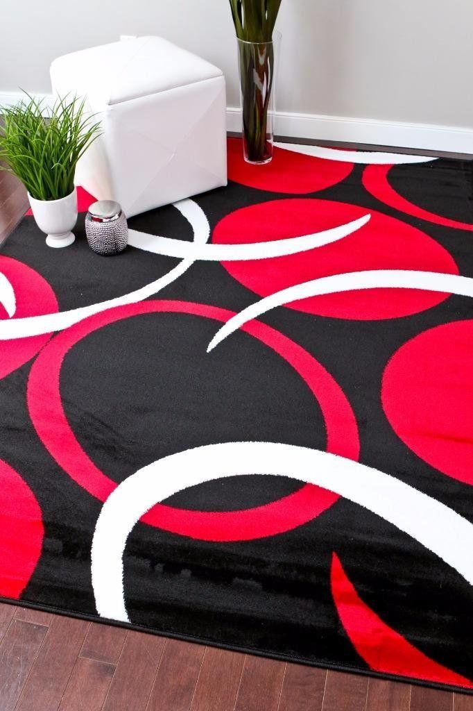 Amazon.com - 1062 Red Black 5'2x7'2 Area Rugs Carpet ...