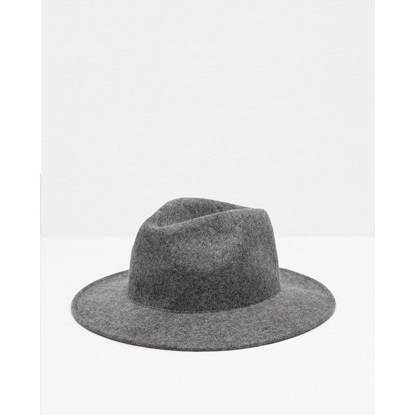 b66f6b314da Zara Felt Hat With Wide Brim Without Ribbon ( 40) ❤ liked on Polyvore  featuring men s fashion