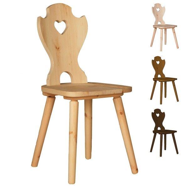 holzstuhl kiefer rustikaler stuhl kati rustikaler stuhl holzst hle und rustikal. Black Bedroom Furniture Sets. Home Design Ideas
