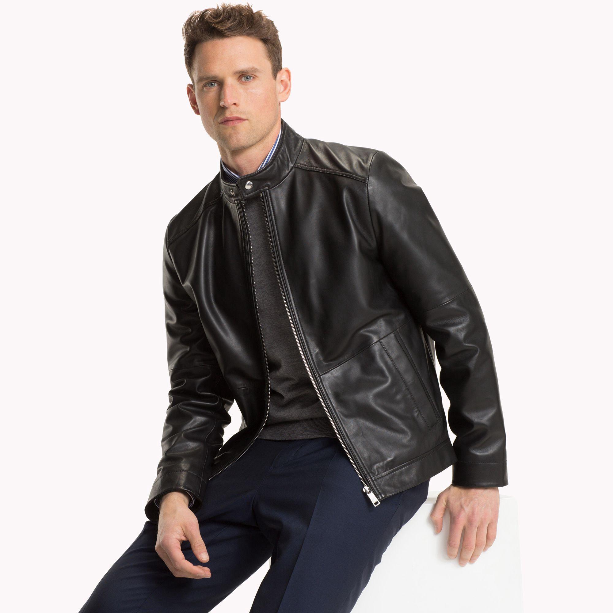 Tommy Hilfiger Leather Moto Jacket 42 | Mens fashion