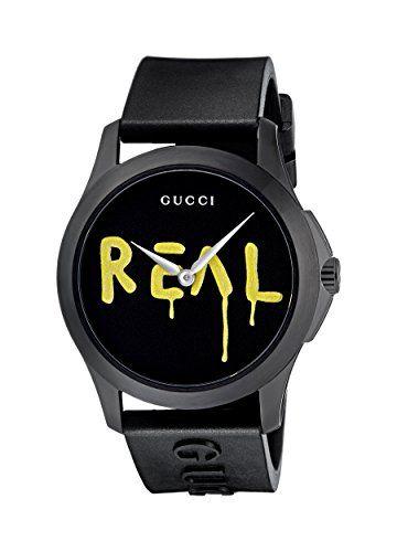 38e56308d22 Gucci Ghost G-Timeless Black Motif Dial Mens Rubber Watch YA1264017 ...