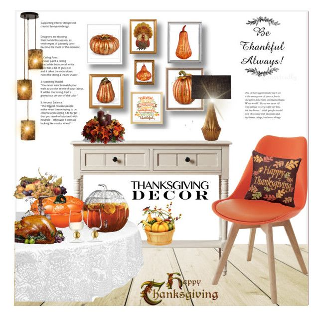 """Thanksgiving decor...."" by nihal-imsk-cam on Polyvore featuring moda, Improvements, Global Views, Storm Furniture, Avon, LSA International ve Lumière"