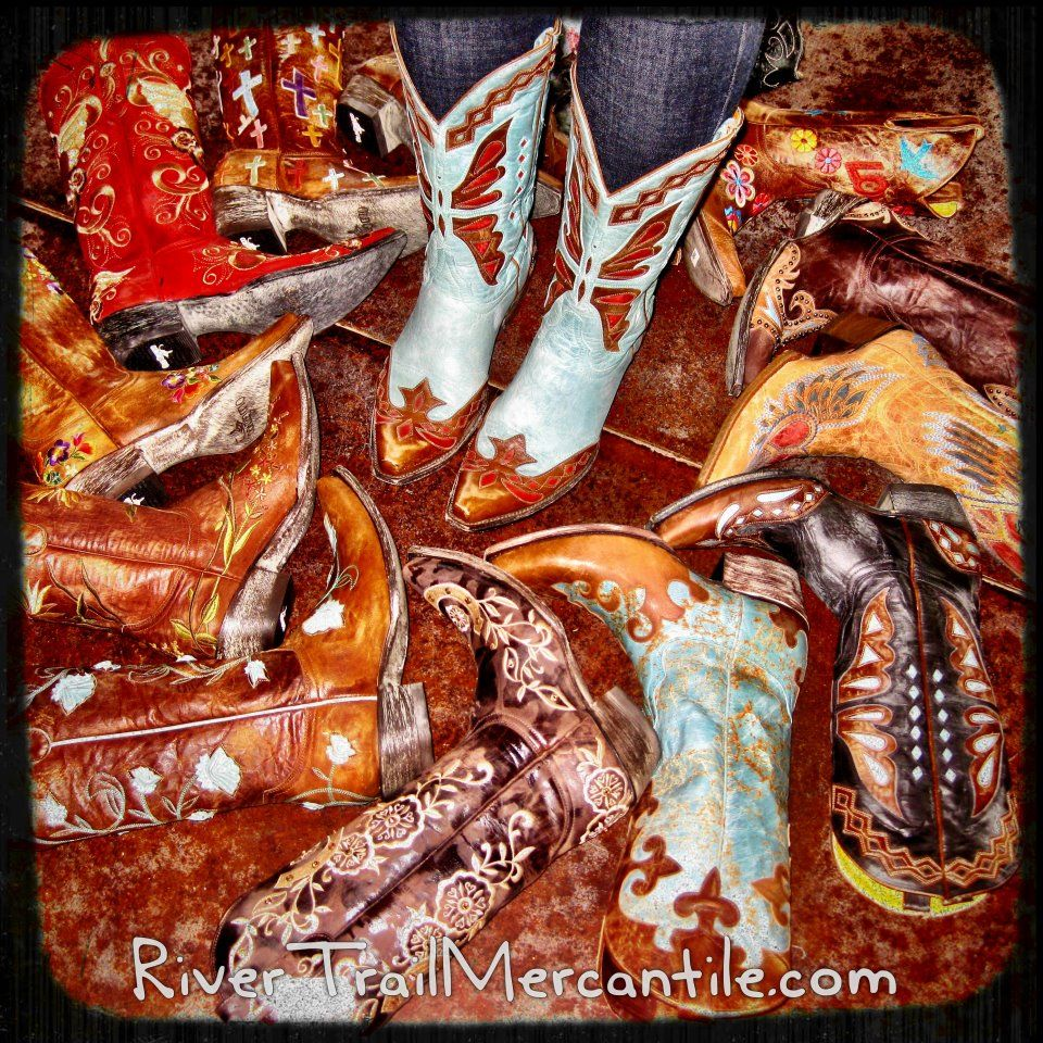 Awesome Cowgirl Boots at http://www.rivertrailmercantile.com