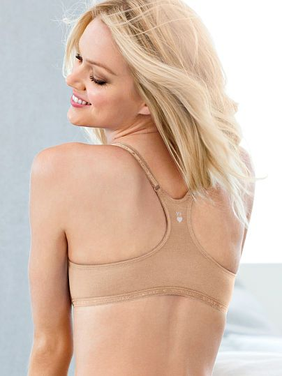 cb2f7abb0b Worn by   Angel Lindsay Ellingson Type   Front Close Unlined Racerback Bra  Color   Nude
