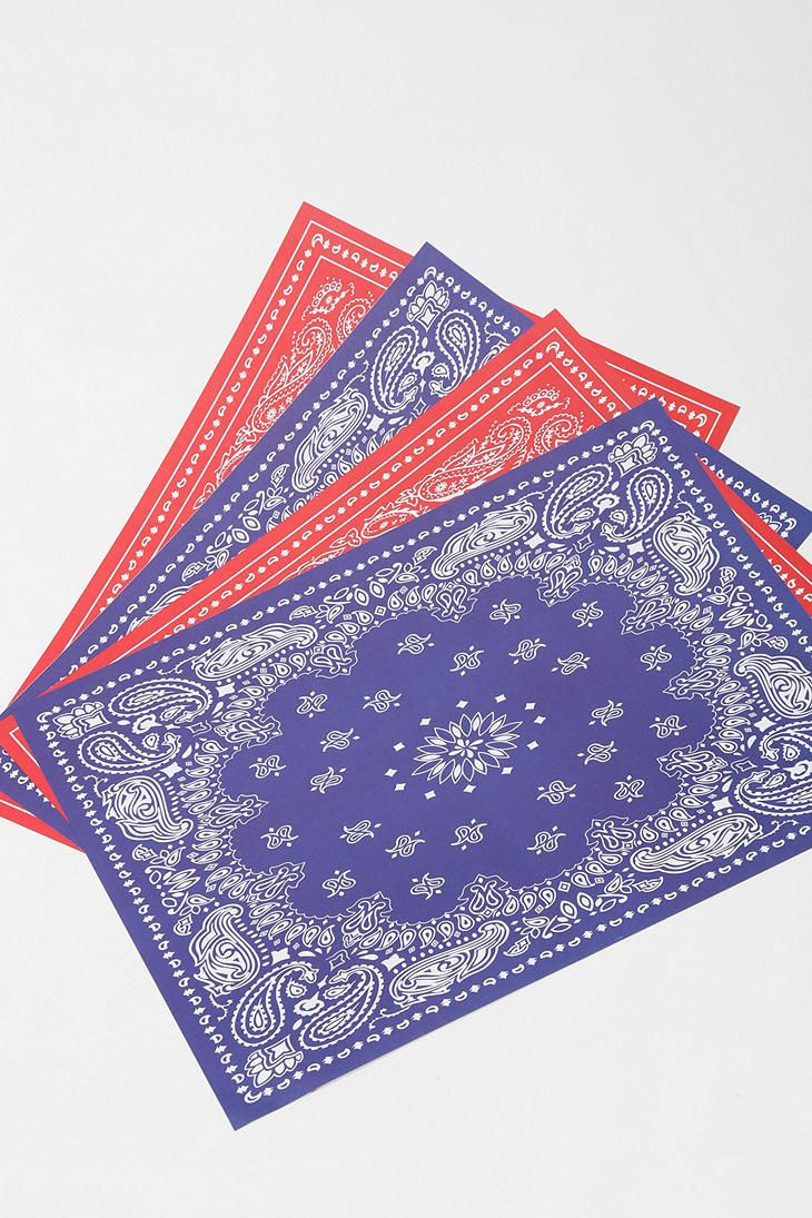 Bandana Placemat - Pack Of 48 Online Only