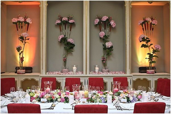 Flowers used as wall decorations
