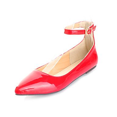 Patent Leather Women's Flat Heel Mary Jane Ballerina Flats Shoes(More Colors)