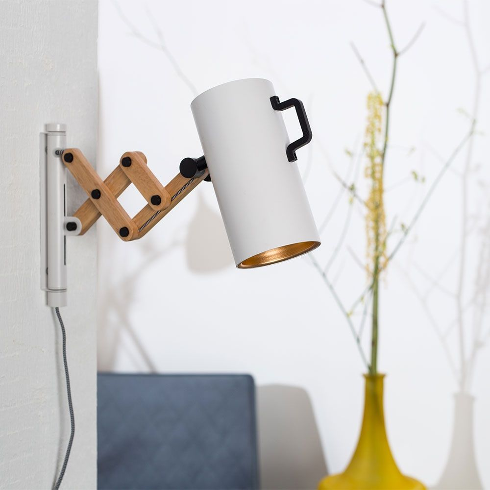 FLEX+EXTENDABLE+ARM+WALL+LIGHT+in+Matte+White | Home shopping ...