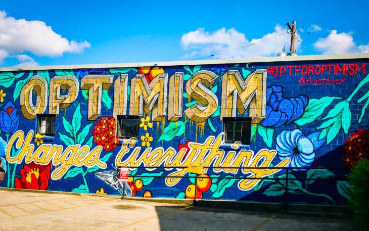 Optimism Changes Everything Austin Tx Austintx Austin Mural