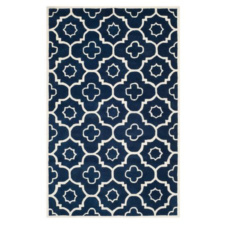 Shannon Rug In Dark Blue 124 95 On Jossandmain Co Uk