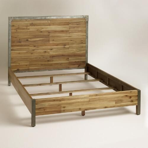 Wood And Metal Aiden Bed World Market Bed Frame And Headboard