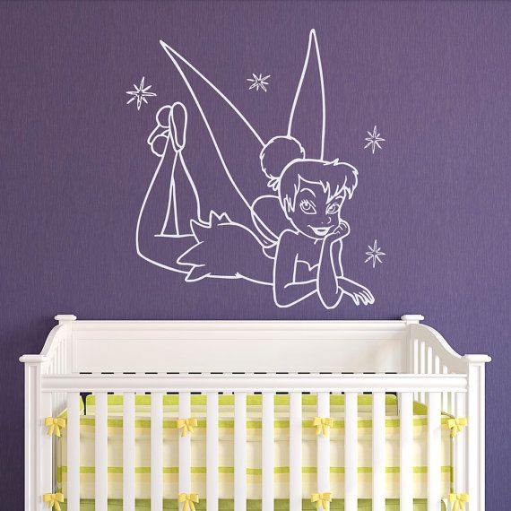 Wall Decal Tinkerbell Princess Fairy Peter By Fabwalldecals
